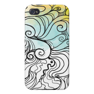 abtract wave 007 iPhone 4 cases