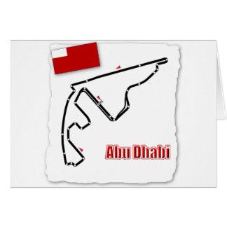 Abu Dhabi GP Circuit Greeting Card