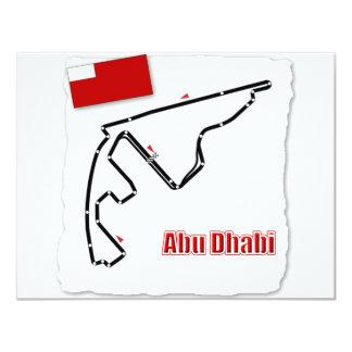 Abu Dhabi GP Circuit 4.25x5.5 Paper Invitation Card