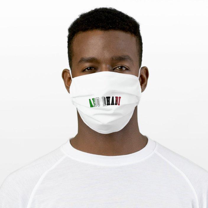 Abu Dhabi in United Arab Emirates National Flag Colors Cloth Face Mask