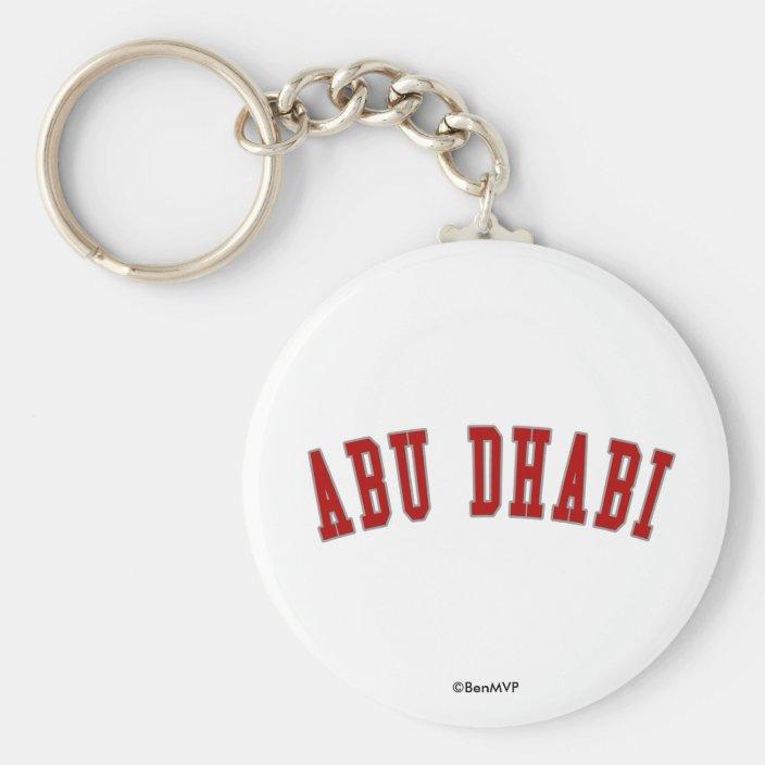 Abu Dhabi Keychain