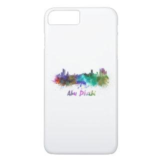 Abu Dhabi skyline in watercolor iPhone 7 Plus Case