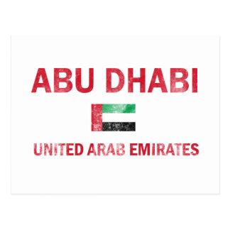 Abu Dhabi UAE designs Postcard