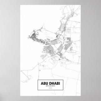 Abu Dhabi United Arab Emirates black on white Print