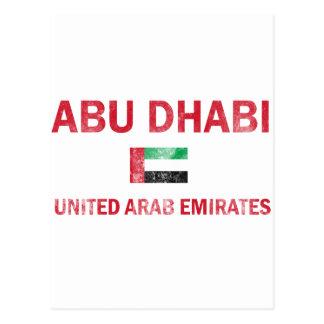 Abu Dhabi United Arab Emirates Designs Postcard