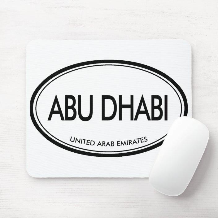 Abu Dhabi, United Arab Emirates Mousepad