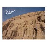 abu simbel egypt postcard
