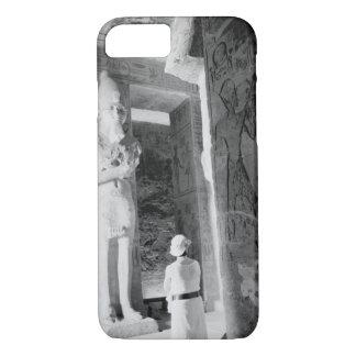 Abu Simbel Egypt, Tourist inside Temple (NR) iPhone 7 Case