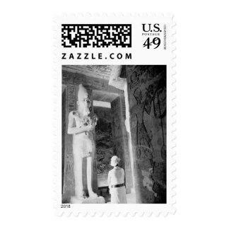 Abu Simbel Egypt, Tourist inside Temple (NR) Stamps