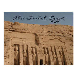 abu simbel great temple postcard