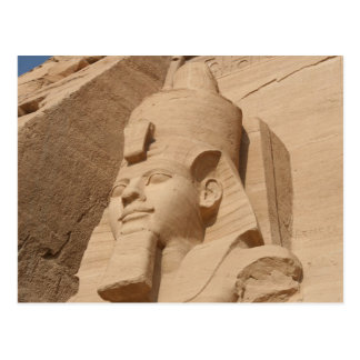 abu simbel head postcard