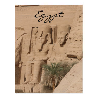 abu simbel kings egypt postcard