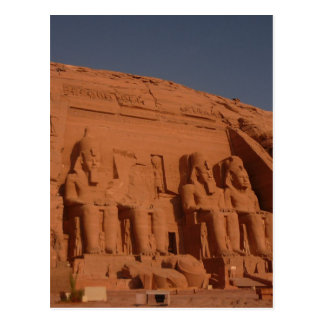 abu simbel kings postcard