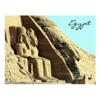 abu simbel seated postcard