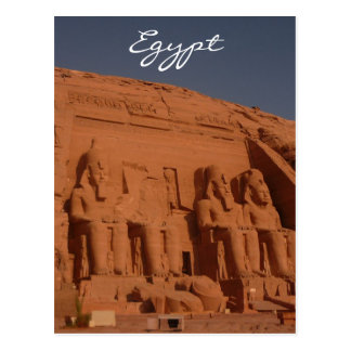 abu simbel stone kings postcard