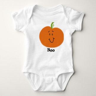 Abucheo anaranjado blanco de la calabaza de la body para bebé