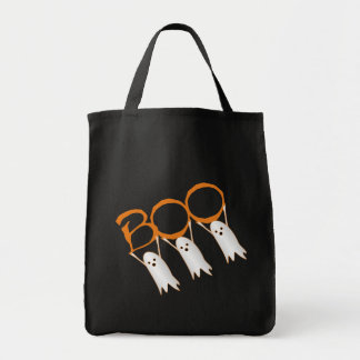 ¡Abucheo! Bolsos de Halloween Bolsa Tela Para La Compra