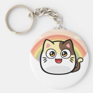 Abucheo como productos del diseño del gato llavero redondo tipo pin