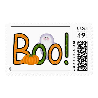 ¡ABUCHEO de Halloween! Franqueo Estampillas