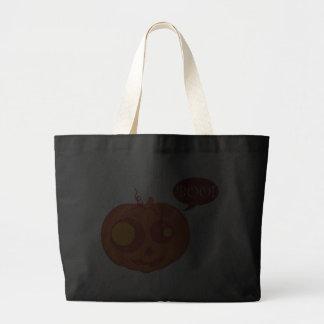 ¡Abucheo de la calabaza de Halloween! Bolsa Tela Grande
