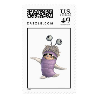 Abucheo de los monstruos inc. en traje timbre postal