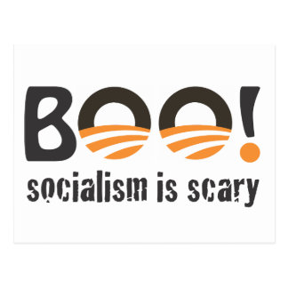 ¡Abucheo de Obama! el socialismo es asustadizo Tarjetas Postales