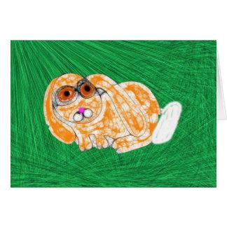 Abucheo del conejito tarjeta de felicitación