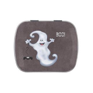 Abucheo del fantasma de Halloween Latas De Caramelos