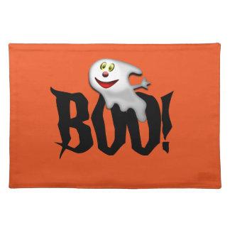 ¡Abucheo del fantasma de Halloween Placemat! Mantel