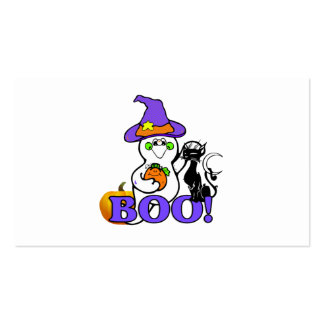 Abucheo del fantasma de Halloween Tarjetas De Visita