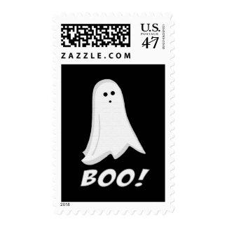 Abucheo del fantasma de Halloween Timbre Postal