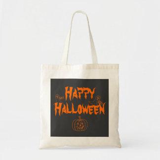Abucheo del feliz Halloween Bolsa Tela Barata