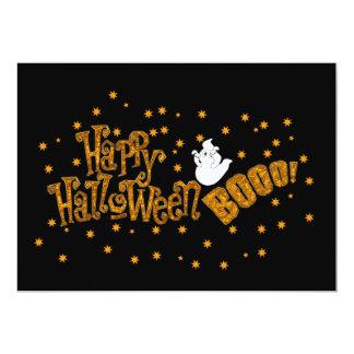 """Abucheo del feliz Halloween Invitación 5"""" X 7"""""""