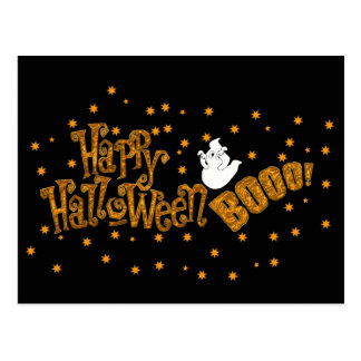 Abucheo del feliz Halloween Postal