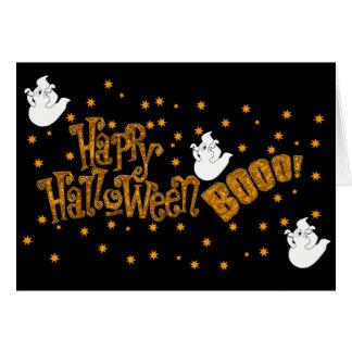 Abucheo del feliz Halloween Tarjeta De Felicitación
