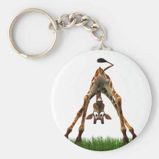 ¡Abucheo! Dice la jirafa de Olympia Llavero Redondo Tipo Pin