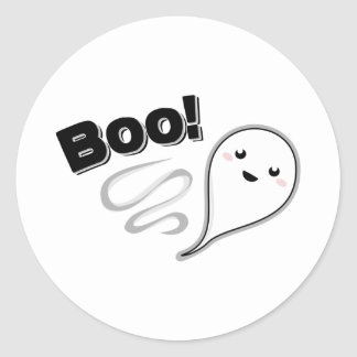 ¡Abucheo! Fantasma Etiqueta Redonda