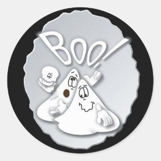 ¡Abucheo! Fantasma tonto el | Halloween Pegatina Redonda
