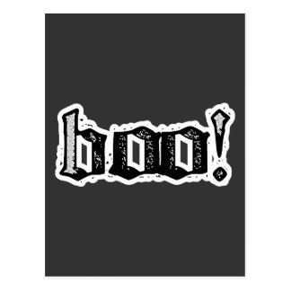 ¡Abucheo Gótico grabado Postal