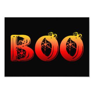 """Abucheo Halloween Invitación 3.5"""" X 5"""""""