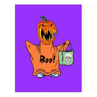 Abucheo Halloween Postal