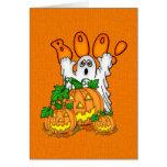 Abucheo Halloween Tarjeta De Felicitación