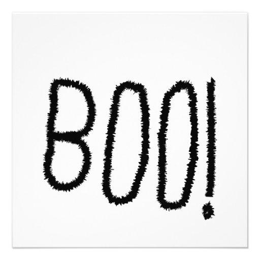 ¡Abucheo! Letras negras dentadas. Halloween Comunicados Personales