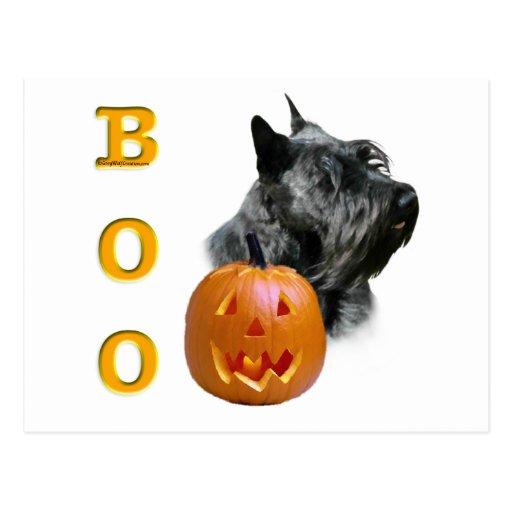 Abucheo (negro) de Terrier del escocés Tarjeta Postal