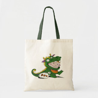 Abucheo soy un dragón bolsa lienzo