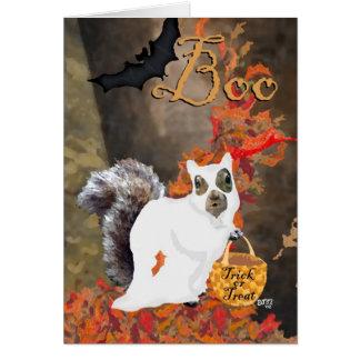 ¡Abucheo! Tarjeta de Halloween de la ardilla