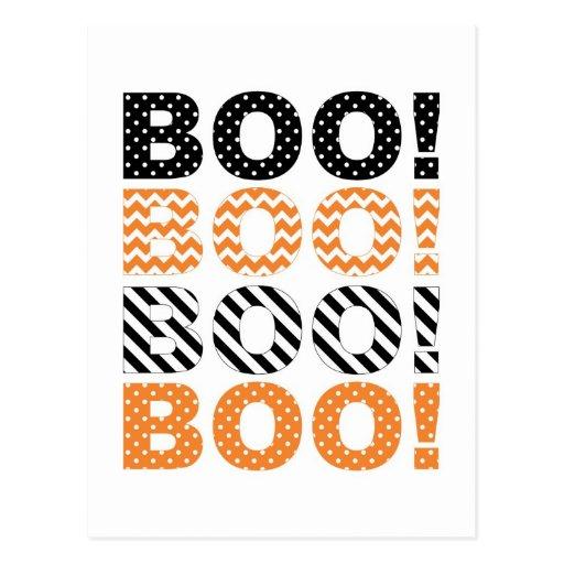 ¡Abucheo! Tarjeta de Halloween Postales
