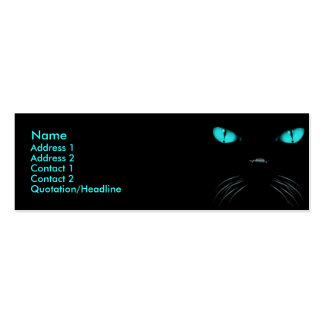 Abucheo - tarjeta del perfil del Aquamarine Tarjetas De Visita Mini