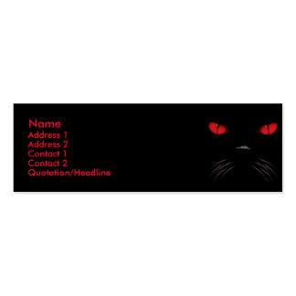 Abucheo - tarjetas de rubíes del perfil tarjetas de visita mini