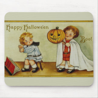 ¡Abucheo! Vintage de Halloween Tapetes De Raton